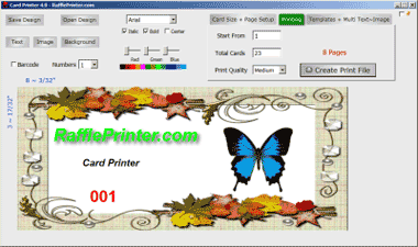 Print Your Own Custom Cards Tickets Easy Step By Step